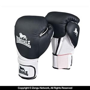 Lonsdale Club Black Training Gloves